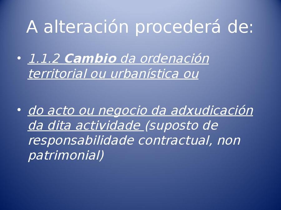 Responsabilidade patrimonial da Administración en materia urbanística